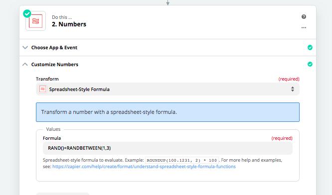 Create a random number using Zapir