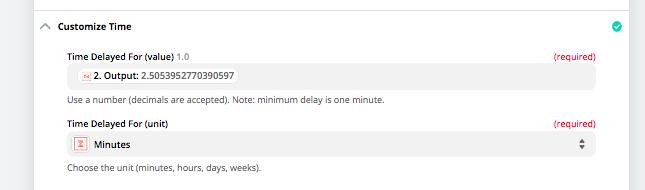 Delay a Zapier automation