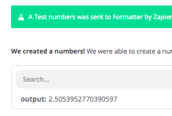 A random number created with a Zapier Formatter step