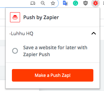 Create a Zapier automation that triggers with Push