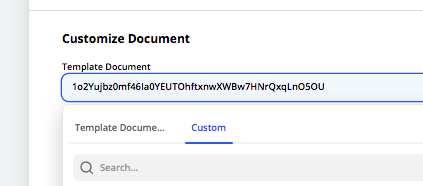 Find a Google Document template in Zapier by ID