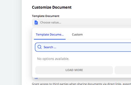 Fix a missing Google Docs template in Zapier