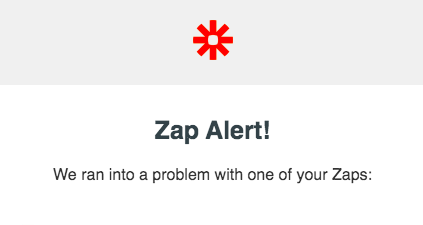 What to do when you get an error in Zapier