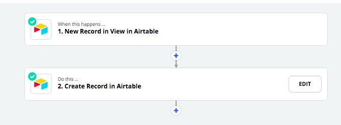 Create an Airtable automation on Zapier.