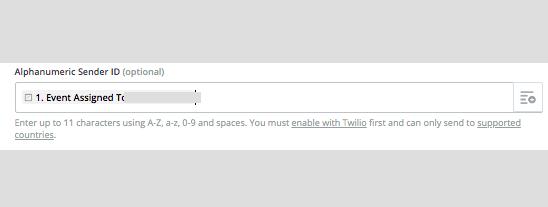 "A ""Send ID"" field in a Twilio Zapier step"