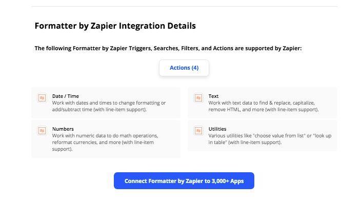 Using Zapier's Formatter step to streamline your automations
