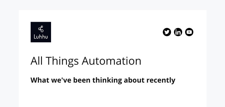 All Things Automation Newsletter 4 Mar