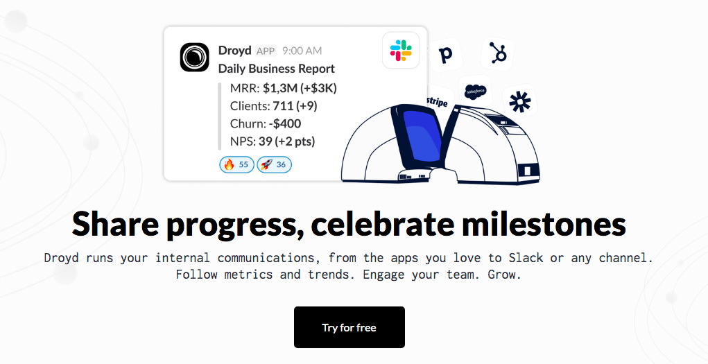 Automatically sync CRM metrics in your project management app using Droyd and Zapier