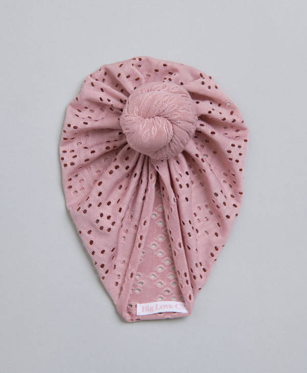 Blush pink knot baby turban for newborn baby girl