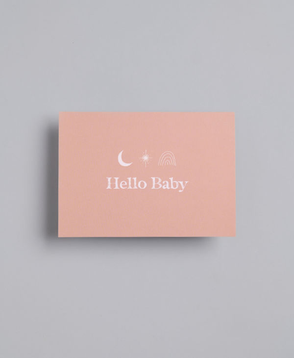 Hello baby gift card for baby boy or baby girl