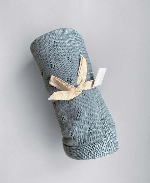 Heirloom Baby Blanket In Blue