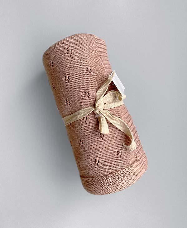 Heirloom Baby Blanket Blush