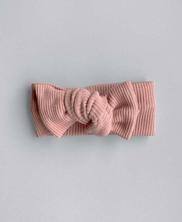Standard Ribbed Knit Topknot Baby Girl Headband