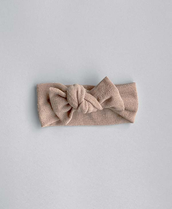Standard Topknot in Tan by Hello Marlie and Co