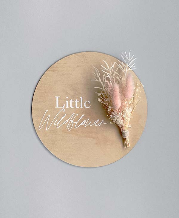 Baby Girl Birth Announcement Sign