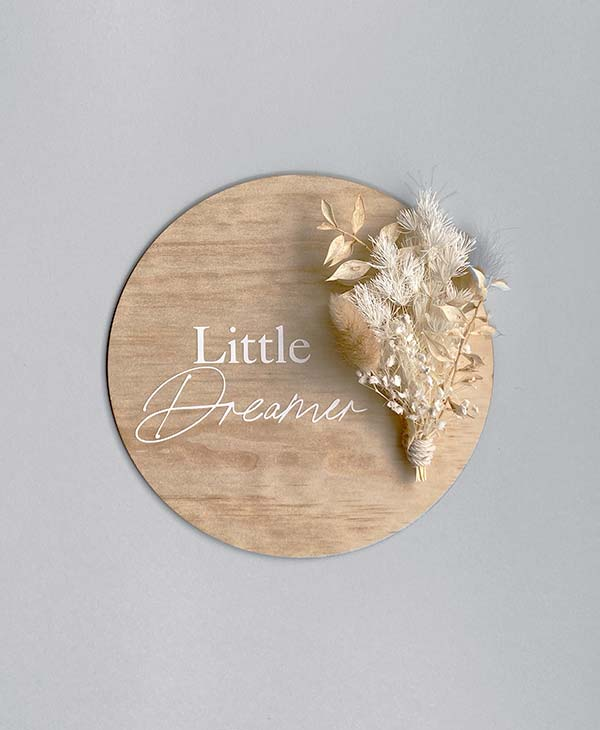 Wooden Baby Birth Announcement Sign