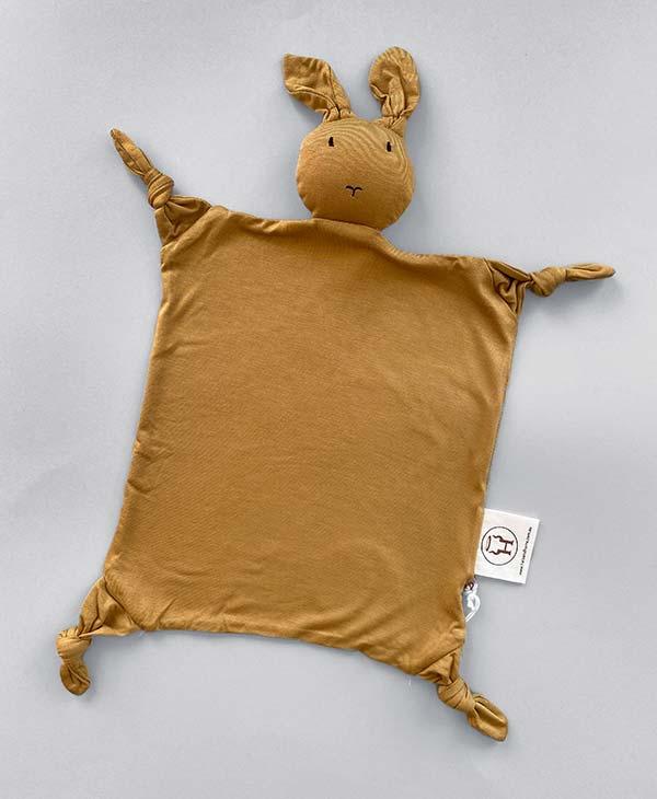 Honey Bamboo Bunny Baby Comforter Security Blanket