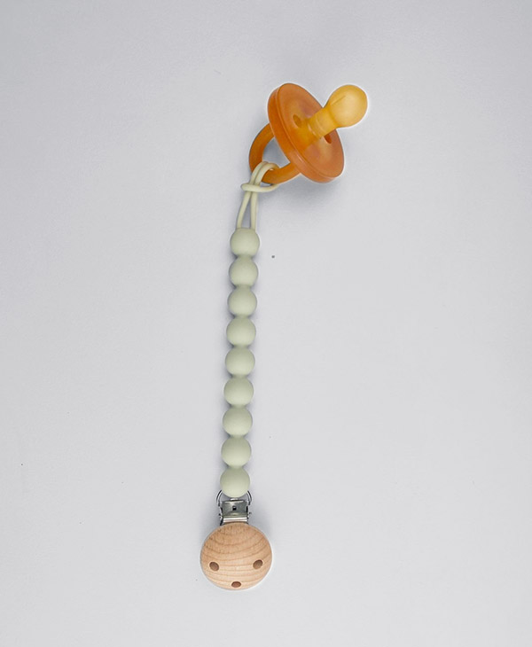 Halo and Horn Sage Dummy Chain, Pacifier Clip, Dummy Clip