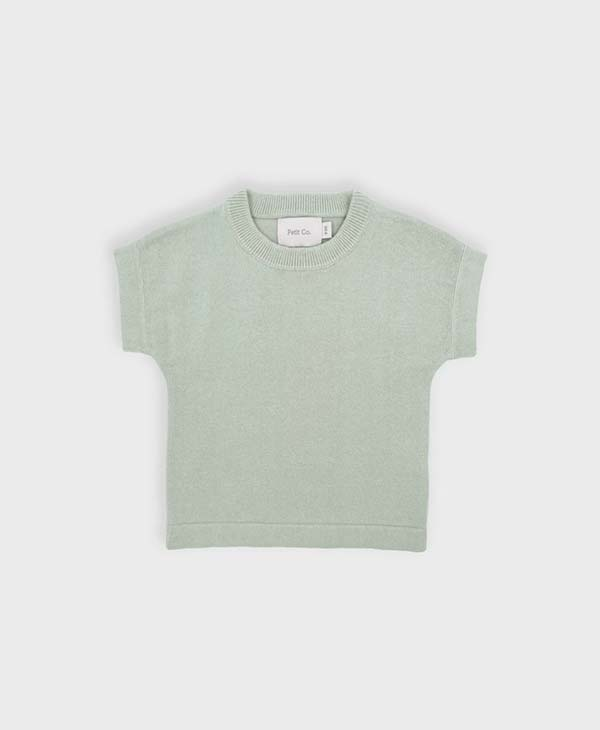 Baby Peppermint Knit Tee by Petit Co