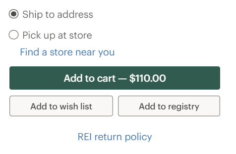 Partial screenshot of a checkout page showing the add to cart button