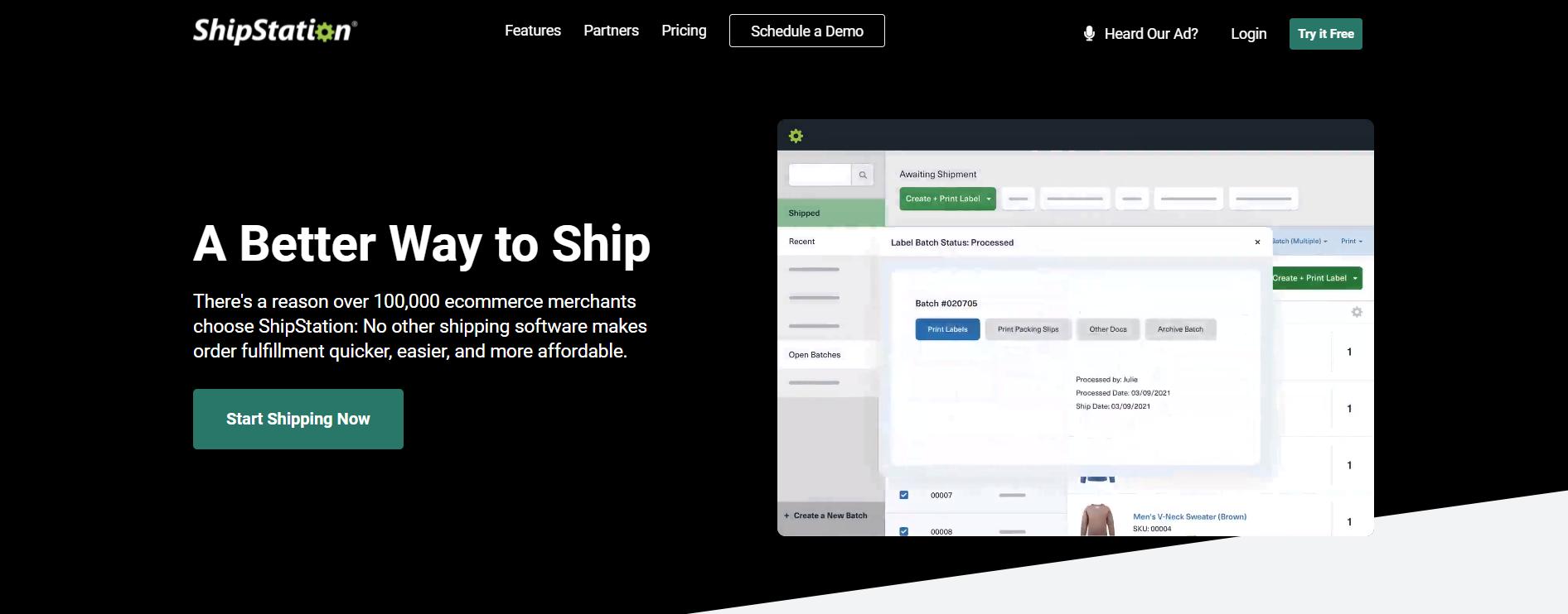 Volusion apps: ShipStation website