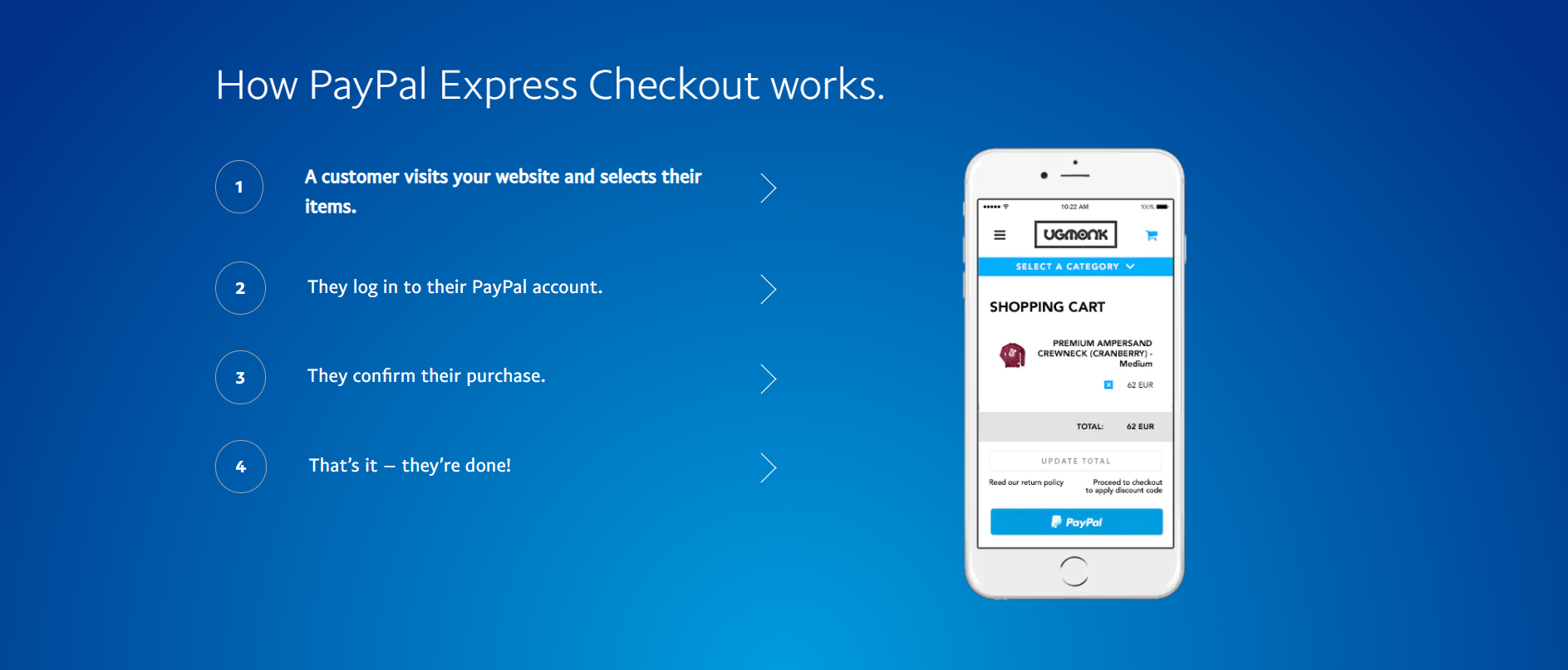 Volusion apps: PayPal Express checkout