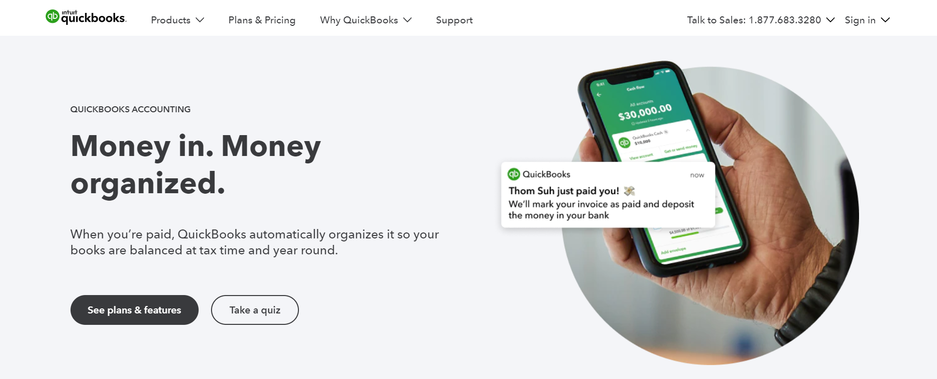 QuickBooks Online website