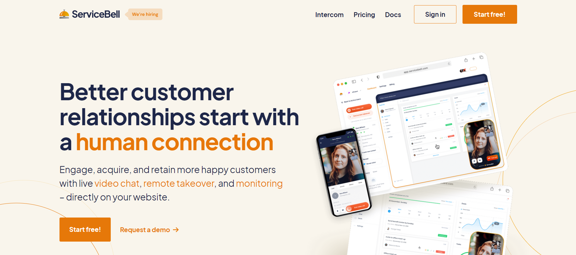 ServiceBell website