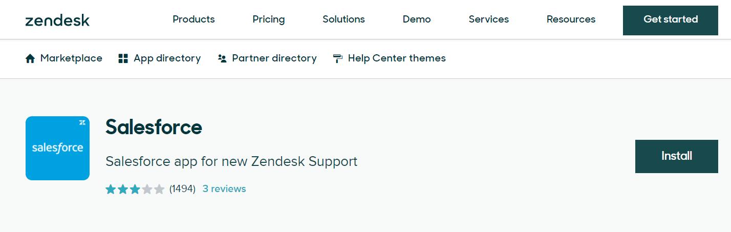 Zendesk integrations: Salesforce