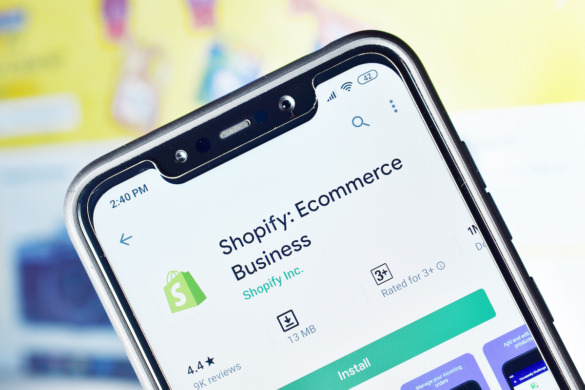 Shopify app on mobile