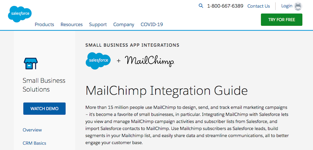 Mailchimp integrations: Salesforce