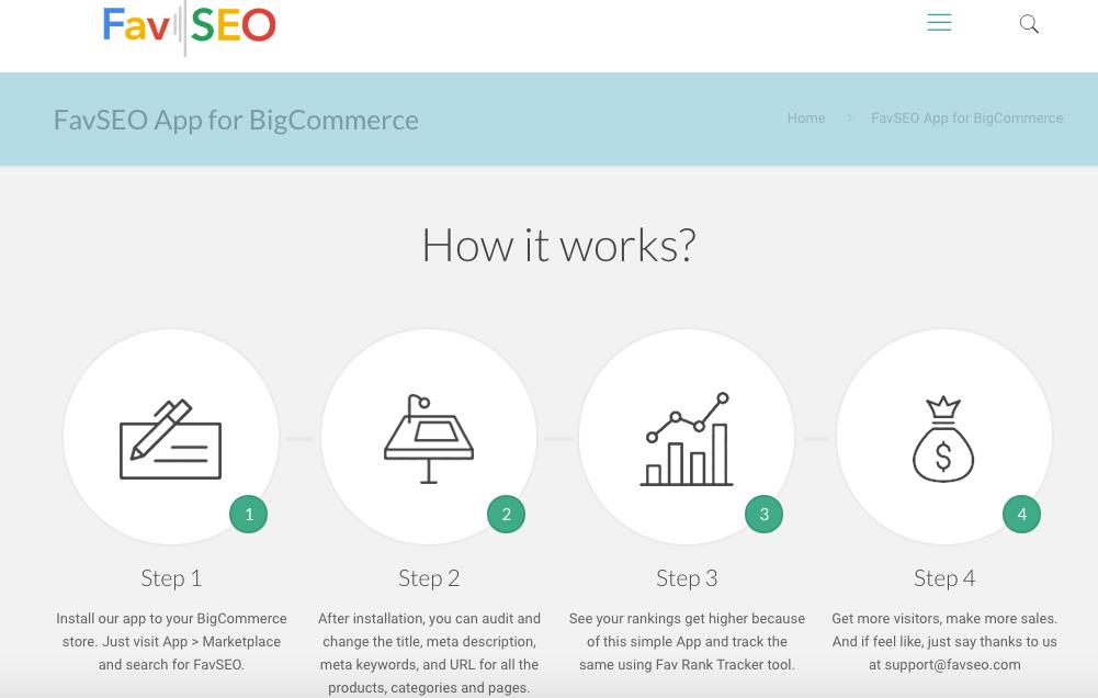 BigCommerce apps: FavSEO