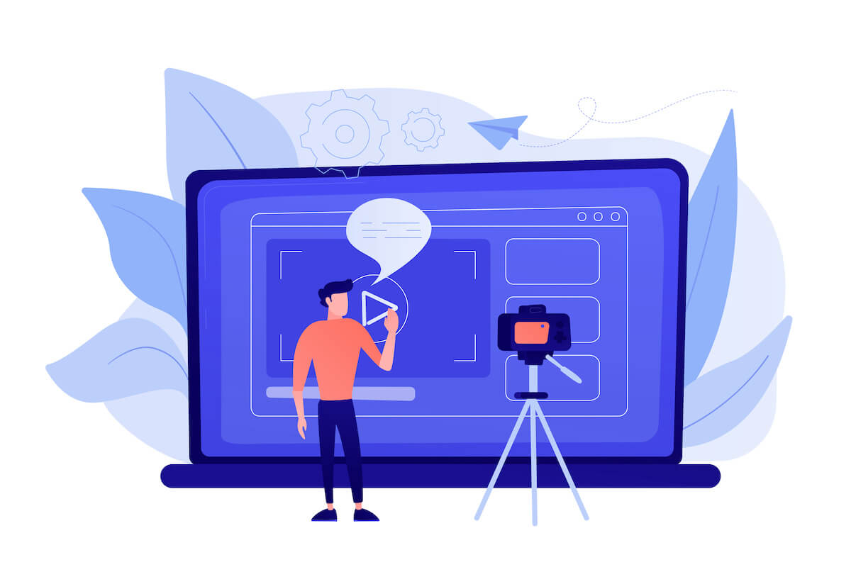 Explainer video software: video production illustration