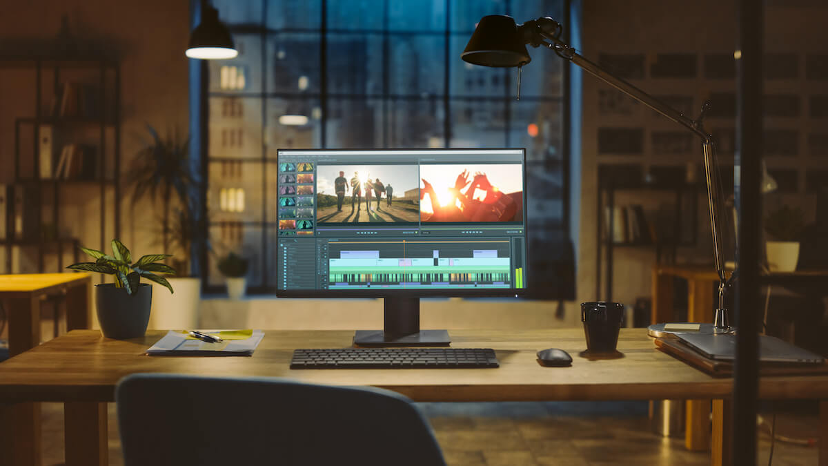 Explainer video software: video editing process using a software