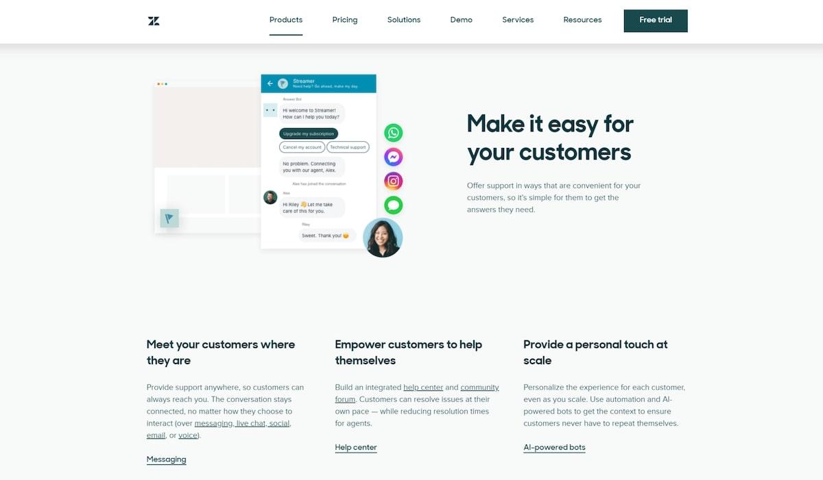 Intercom apps: Zendesk Support
