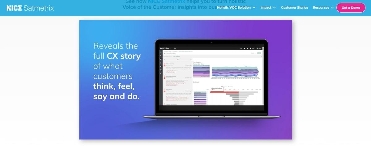 Customer experience management software: NICE Satmetrix