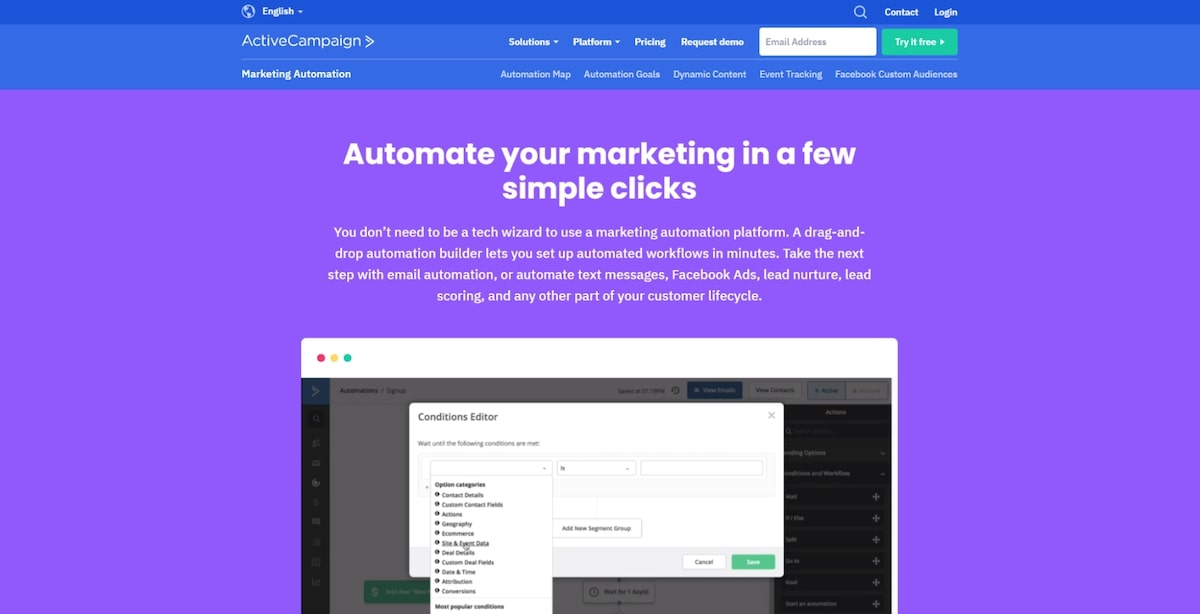 Softwares for sales: ActiveCampaign