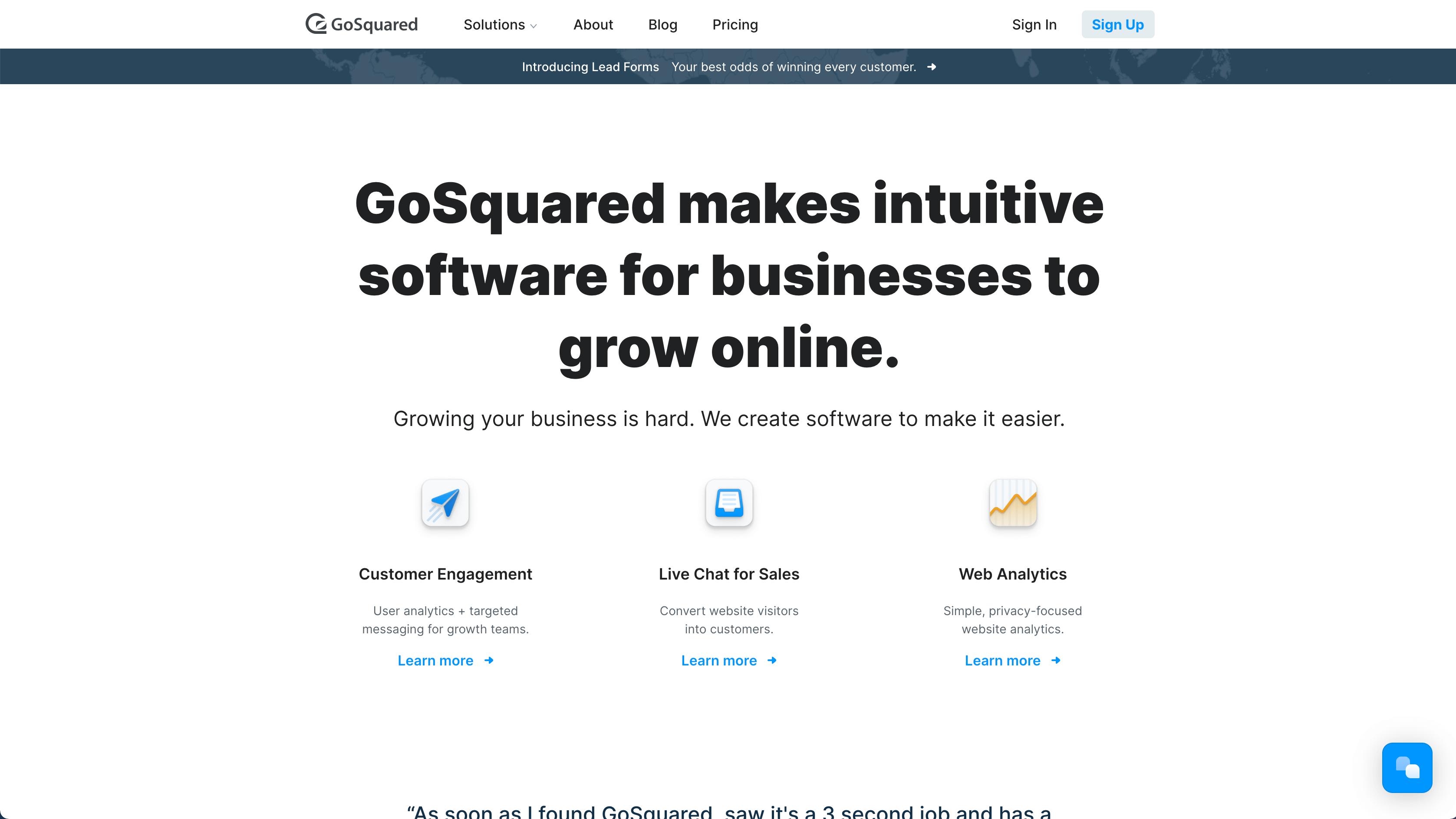 intercom vs gosquared