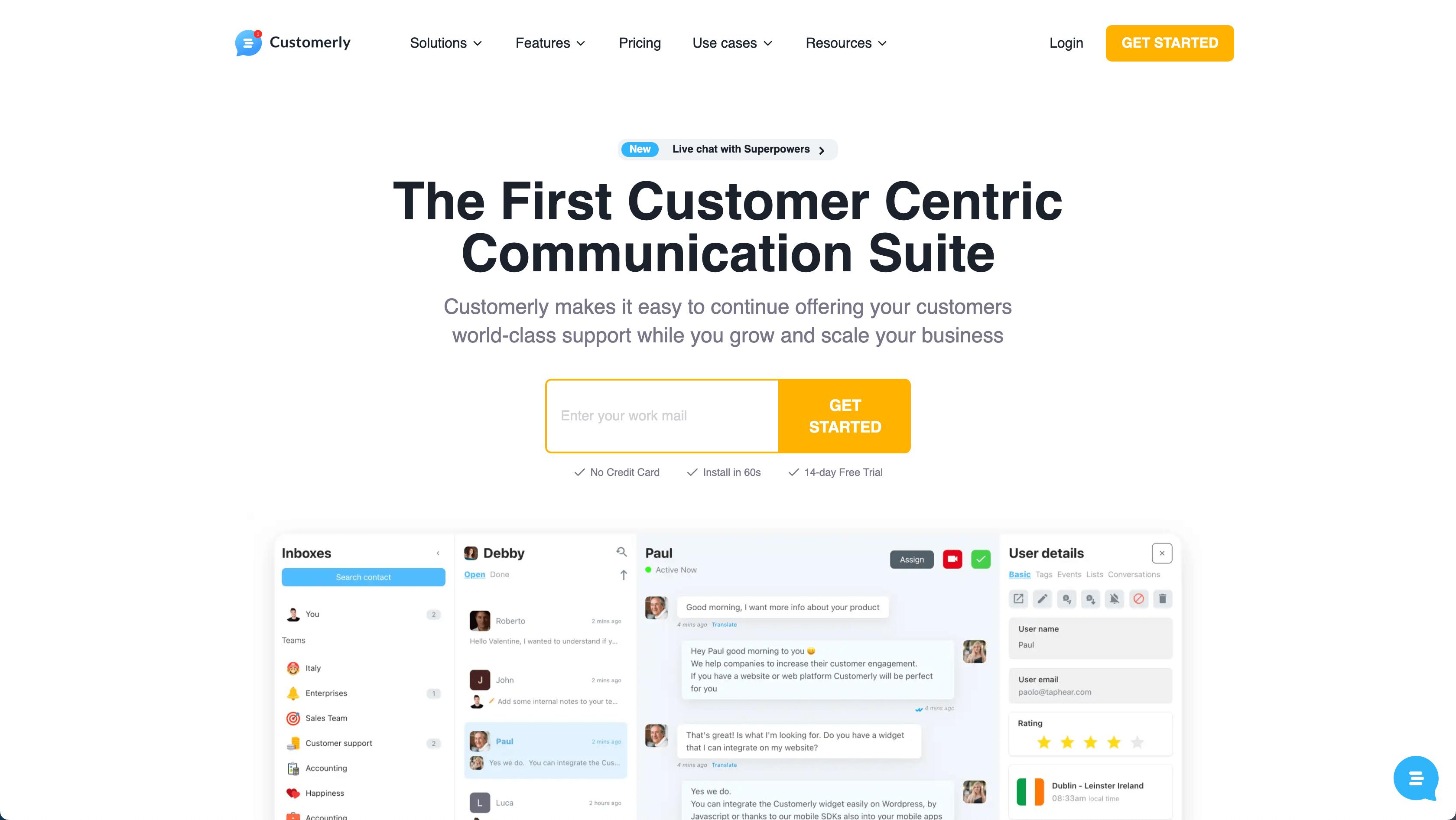 intercom vs customerly