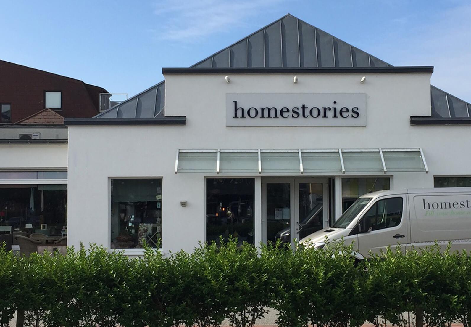 Frontansicht des Showrooms von Homestories