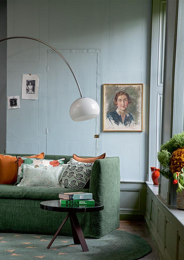 Wohnzimmer mit klasschiem Interior Design