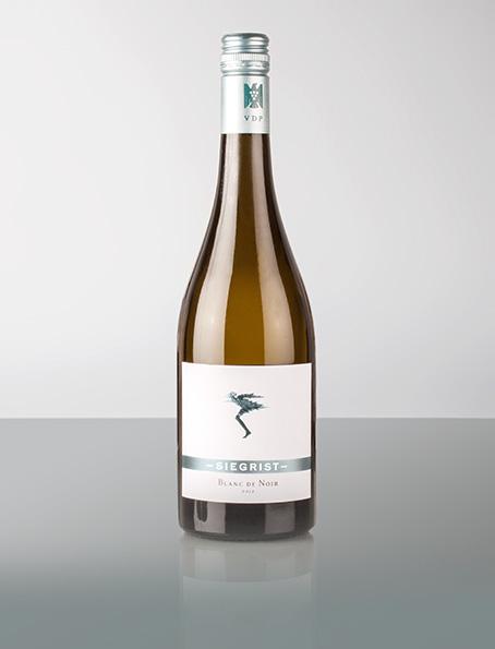 """Dieser Blanc de Noir ist ein """"weiss"""" gekelterter Wein aus Pinot Noir (Spätburgunder). Frischer, frecher Typ mit animierend saftiger Note, absolut sommertauglich: zu Austern und Sardinen"""