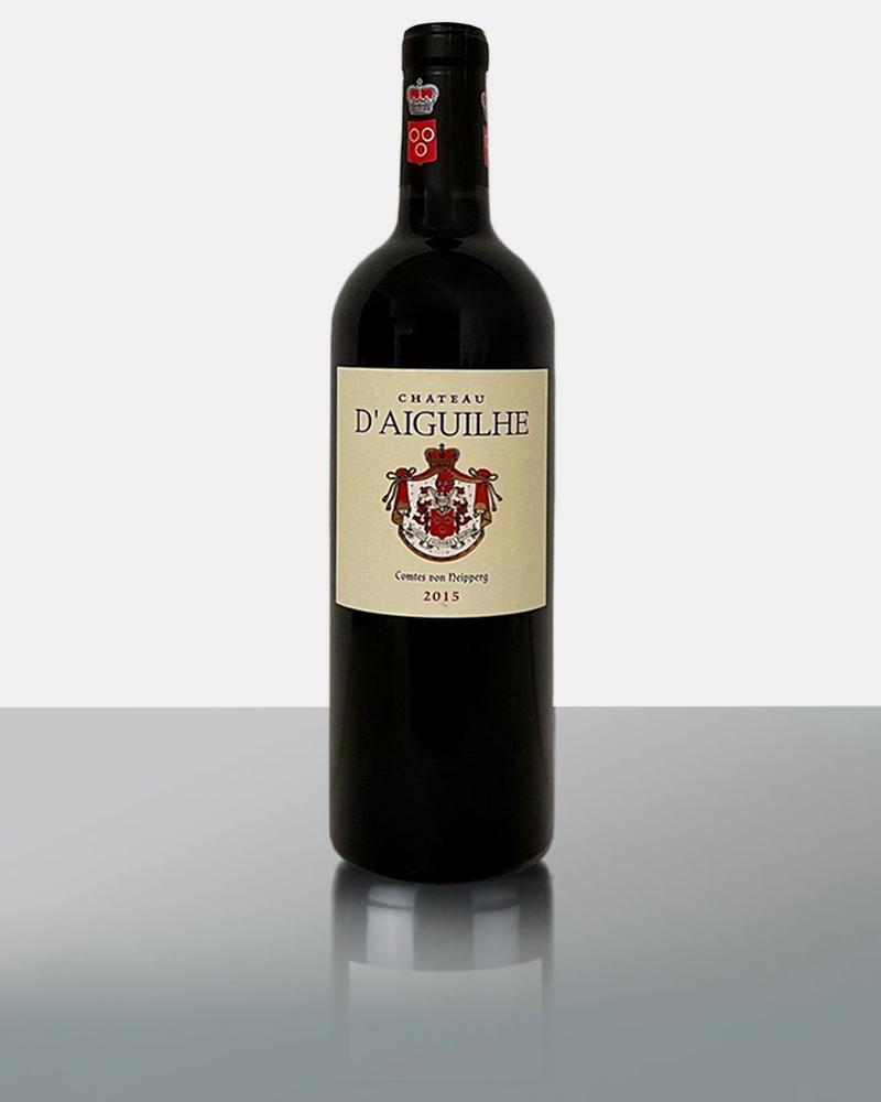 Zweites Weingut von Stephan Neipperg. Hoher Anteil an Kalkböden mit einem Cuveè aus 85% Merlot und 15% Cabernet Franc. Es sind hier 65 Hektar. 14,5% Alkohol. Aiguilhe wird komplett biologisch bearbeitet, ist aber noch nicht zertifiziert.Mega Potential