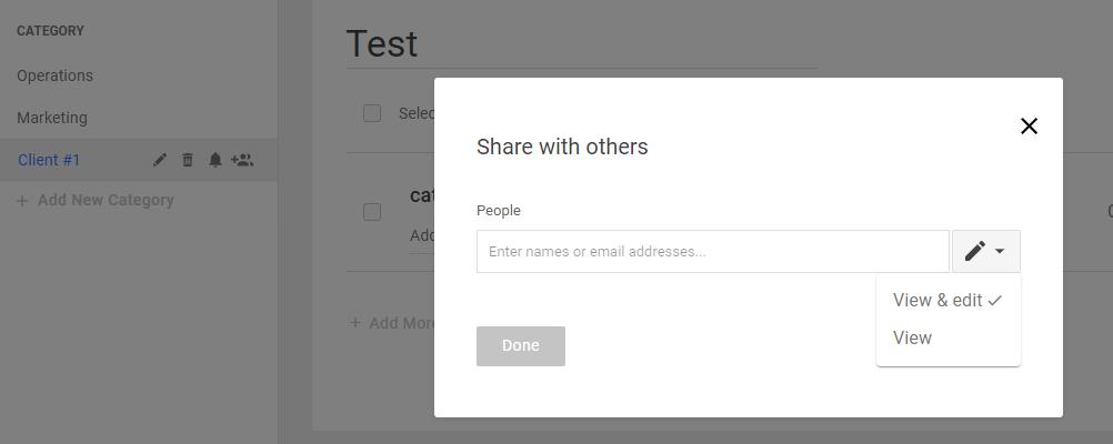 share category