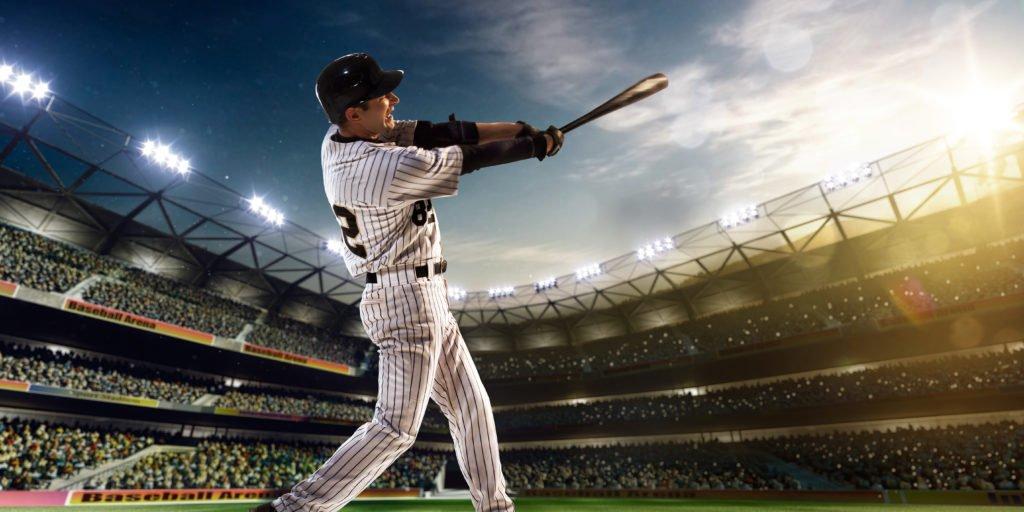 Baseball Player Slams Home Run Out Of Ball Park