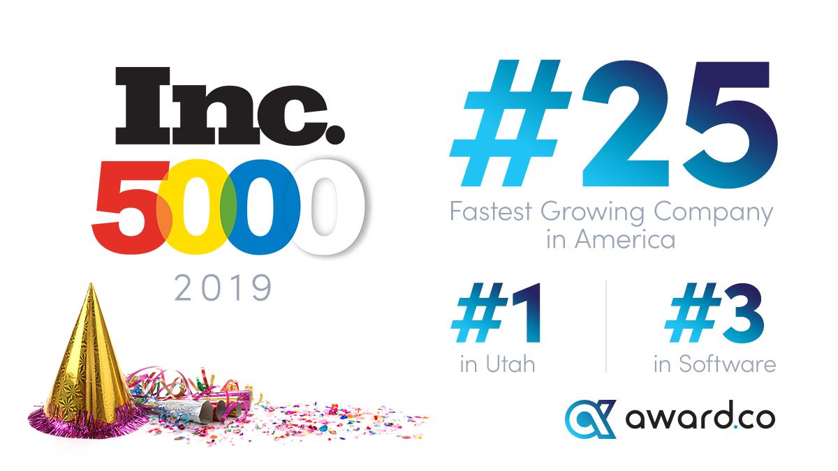Awardco Ranked #25 on Inc. 5000