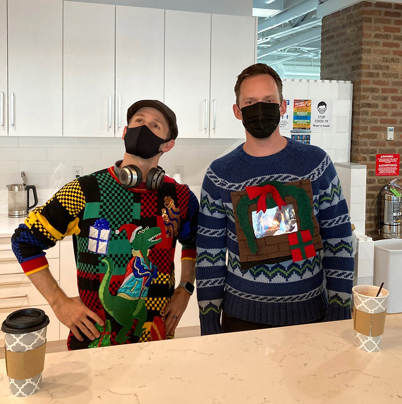 We're crazy-sweaters-and-hot-cocoa zany.