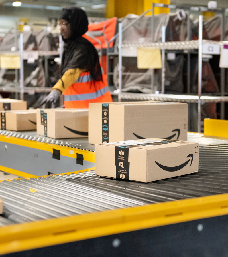 Amazon global fulfillment centers ship packages all over the planet.