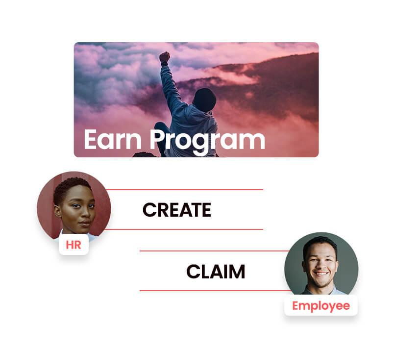 Employees claim their rewards.