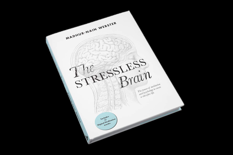 "3D model of Madhur-Nain's book ""The Stressless Brain"""